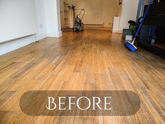 oak floor renovation teddington - last man sanding