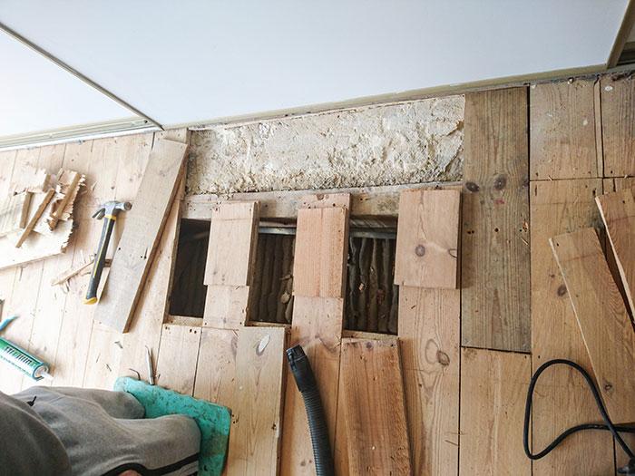 Pine floor repair Balham