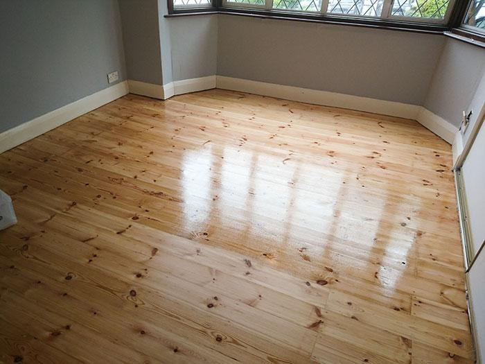 Pine floor renovation Balham