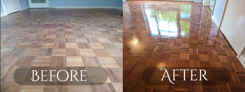 Mahogany Mosaic Finger Flooring Restoration Richmond Last Man Sanding